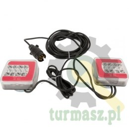 Zestaw lamp LED tylnych na magnes 7.5m